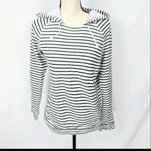 J.Crew Striped Hooded Sweatshirt Small